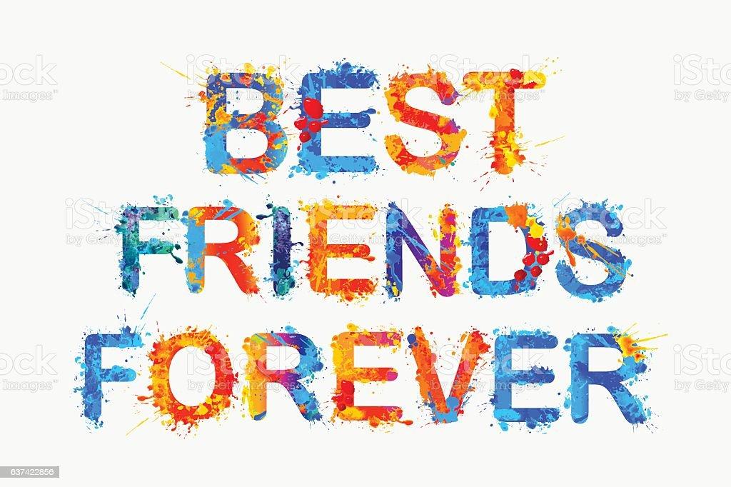 3d Wallpapers Friends Forever Best Friends Forever Splash Paint Stock Vector Art