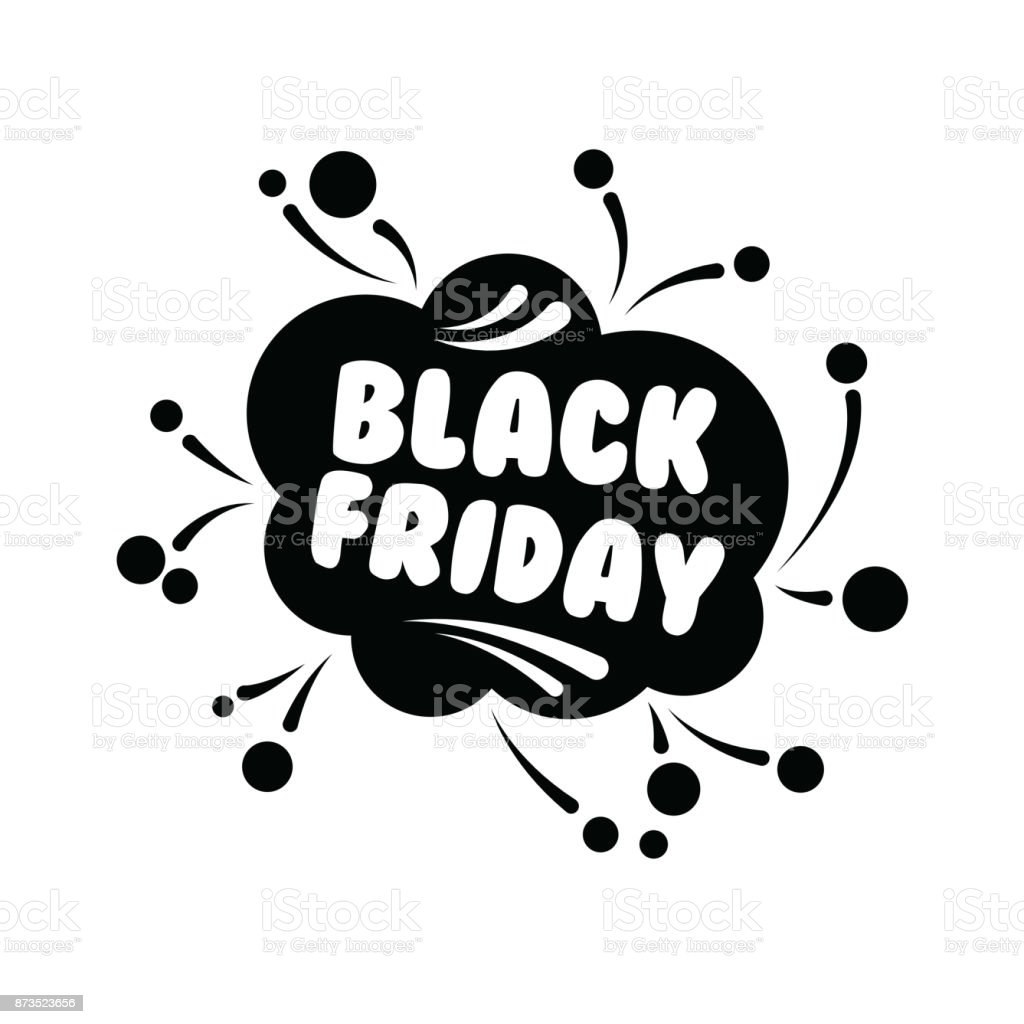 Black Week Sale Big Sale On Black Friday Shopping On White Background Vector