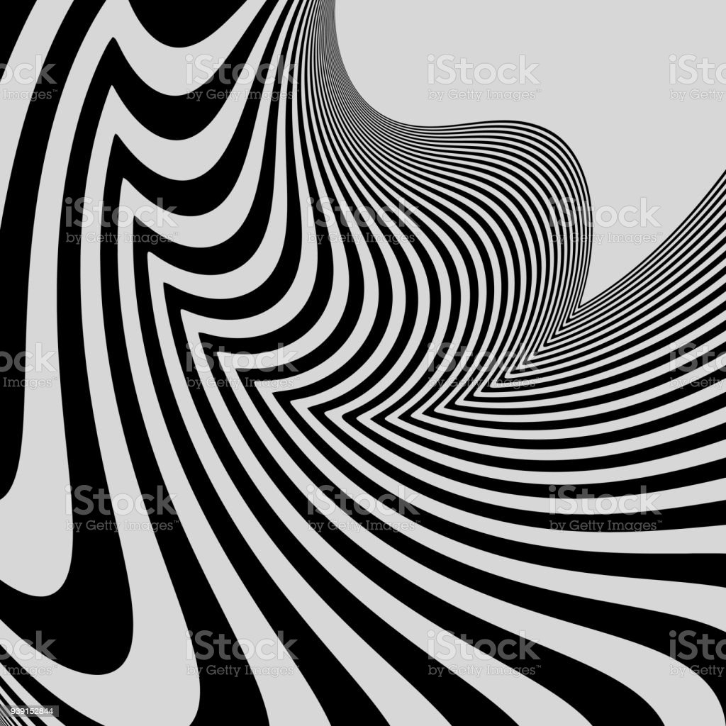 Arte Optico Imagenes Black And White Abstract Striped Background Optical Art 3d Vector