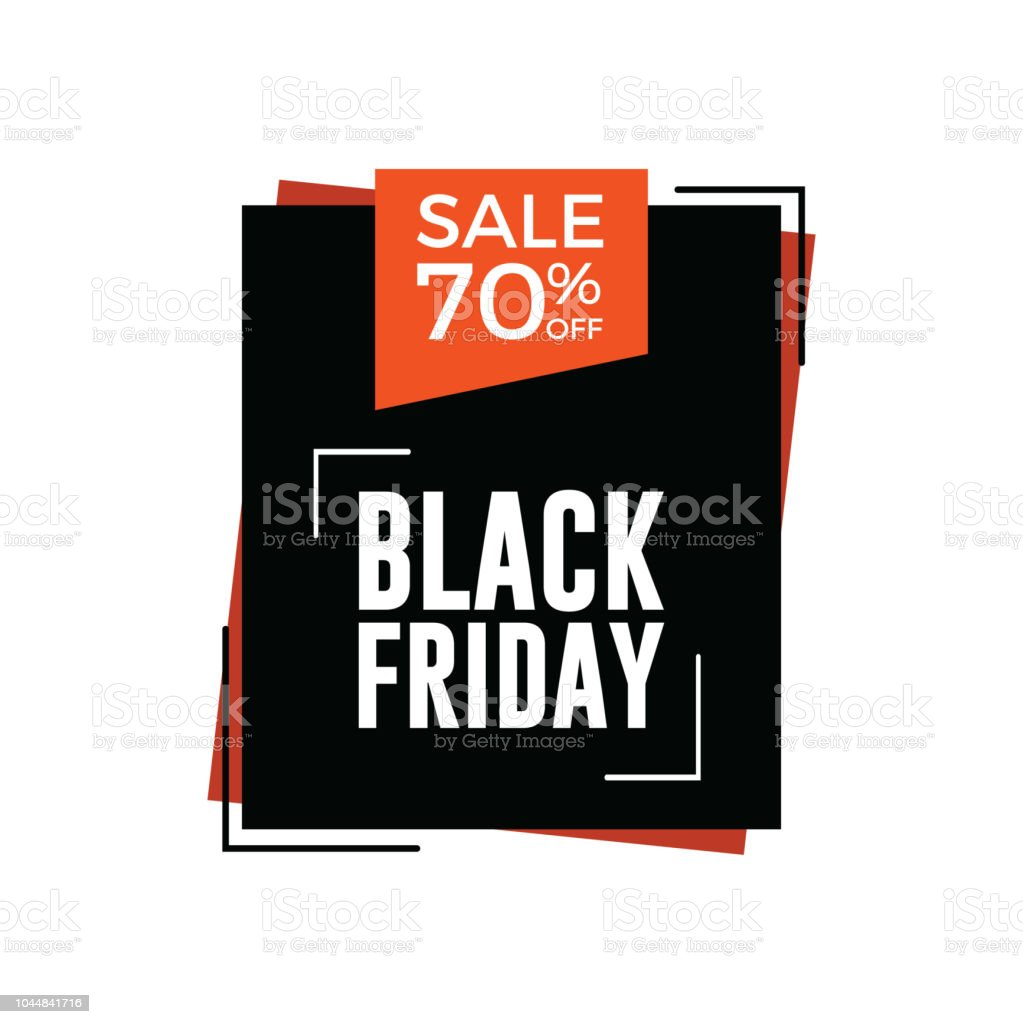 Black Friday Rabatt Black Friday Sale Banner 70 Rabatt Stock Vektor Art Und Mehr