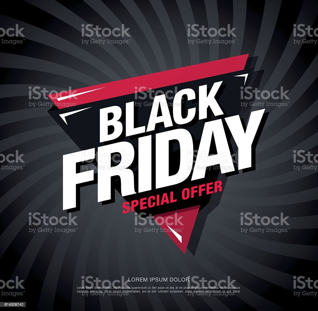 Black Sale Black Friday Sale Banner Template Design Stok Vektör Sanatı Afiş