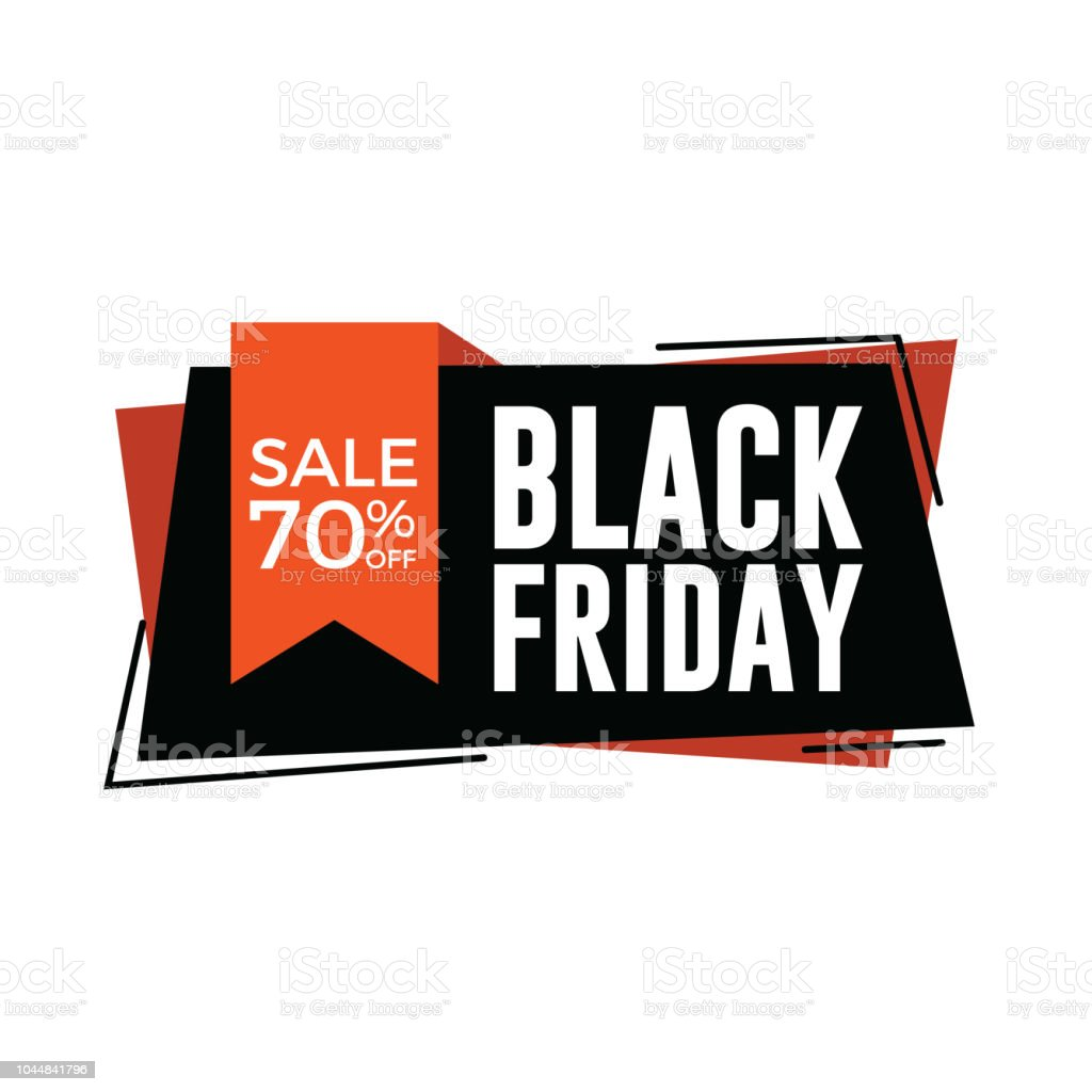 Black Friday Rabatt Black Friday Sale Banner Mit Rotem Band Banner 70 Rabatt Stock