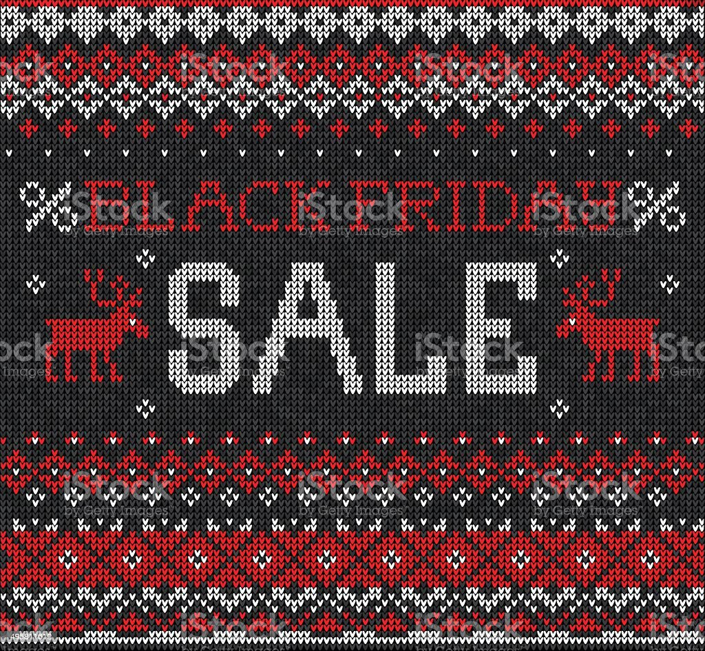 Black Sale Black Friday Sale Scandinavian Style Knitted Embroidery Stok