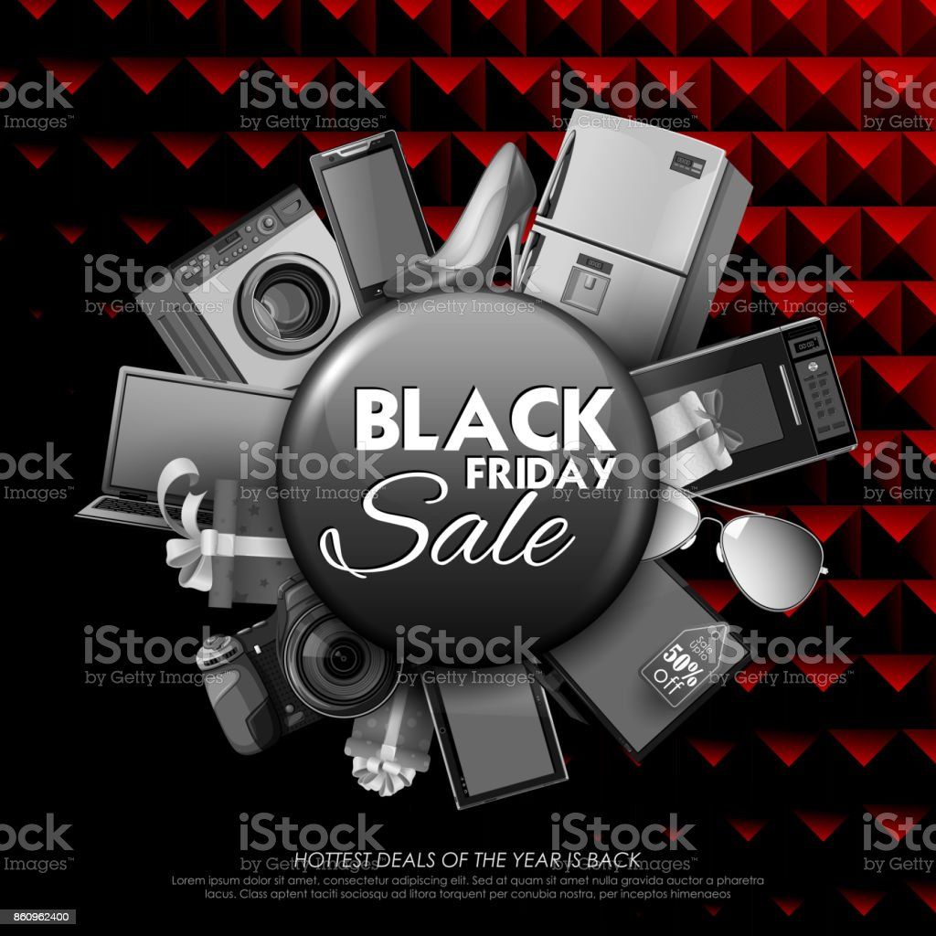 Black Friday Angebot Illustration Of Background For Black Friday Sale Shopping Offer And