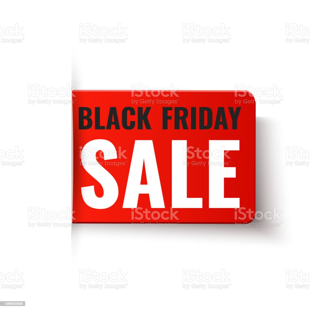 Black Sale Black Friday Sale Vector Red Tag Stok Vektör Sanatı 496690888 Istock