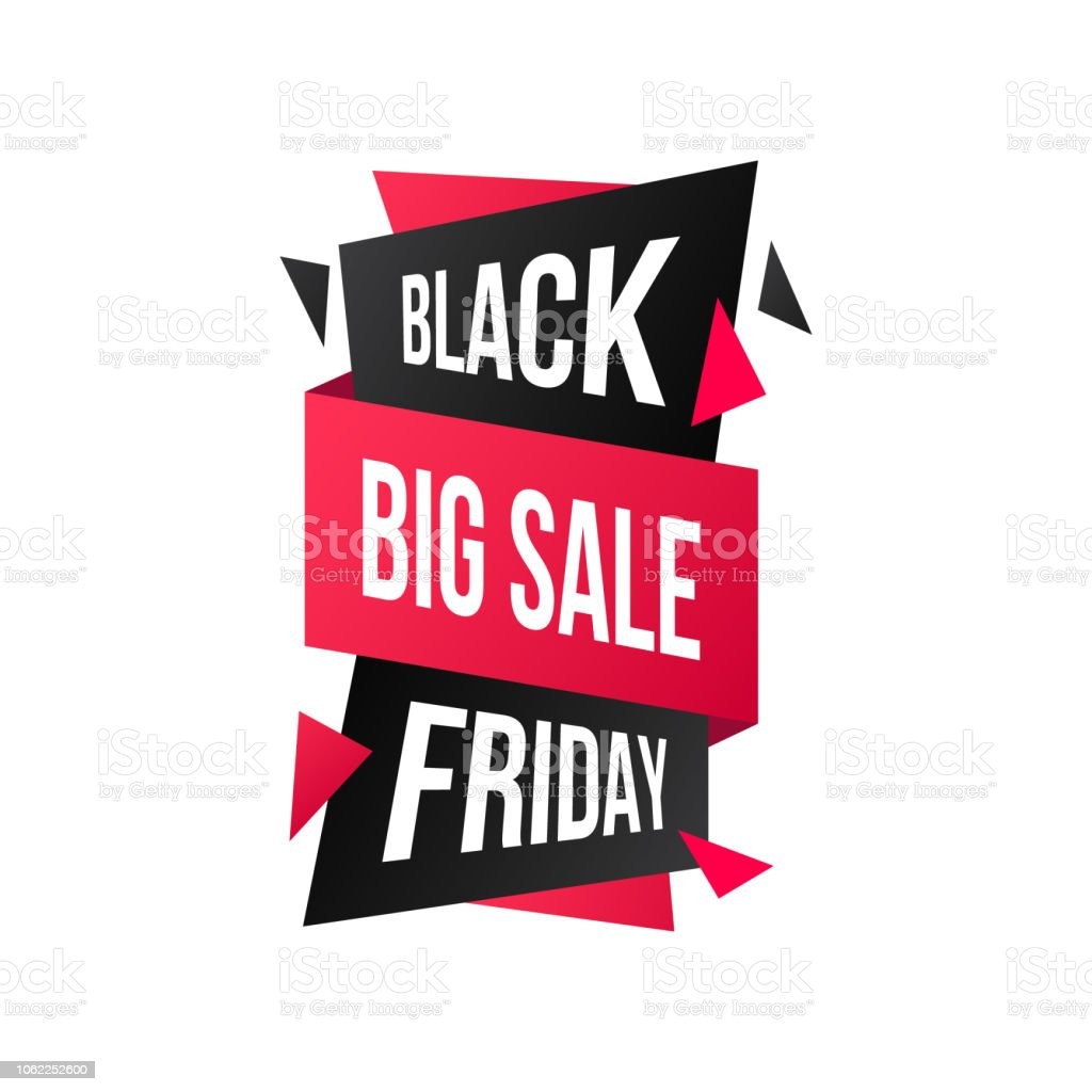 Sale Black Friday Black Friday Sticker Big Sale Discount Banner Design Vector