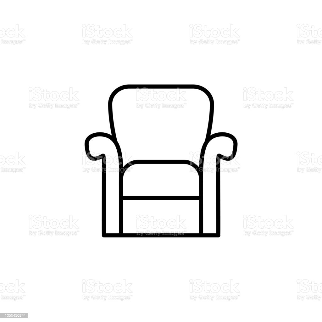 Sessel Mit Hoher Rückenlehne Black White Vector Illustration Of Classic Armchair With High Back
