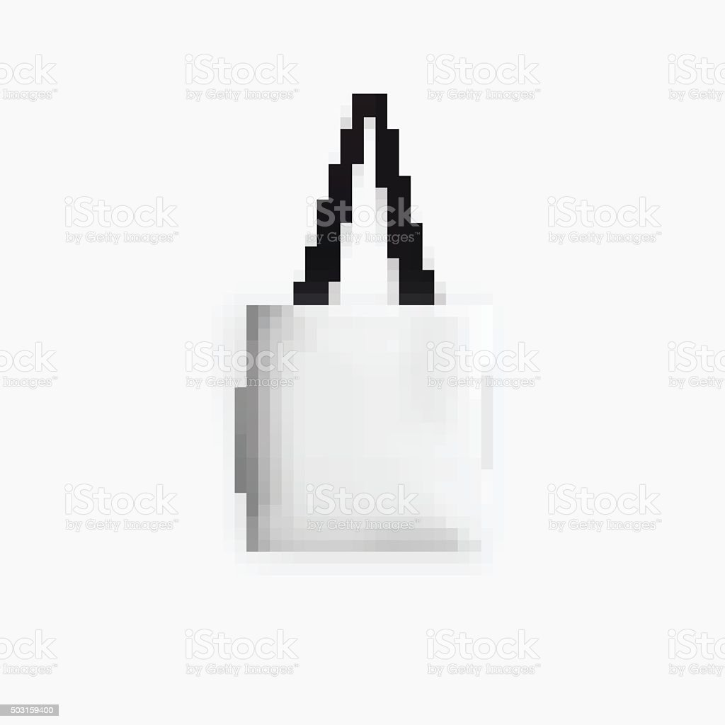 Weiße Tasche Isolated Photo Realistic Illustration On White Background Vector