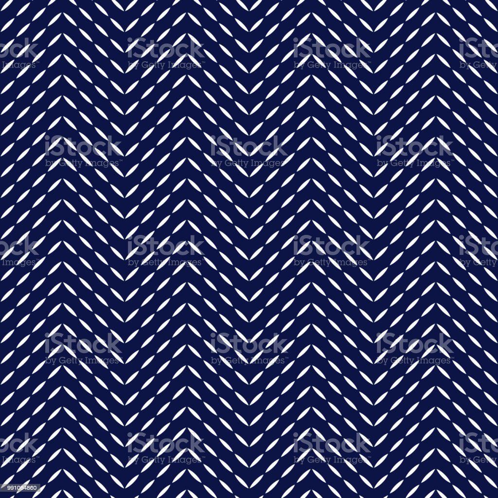 Quilted Fabric Blue And White Quilted Fabric Herringbone Stitches Geometric
