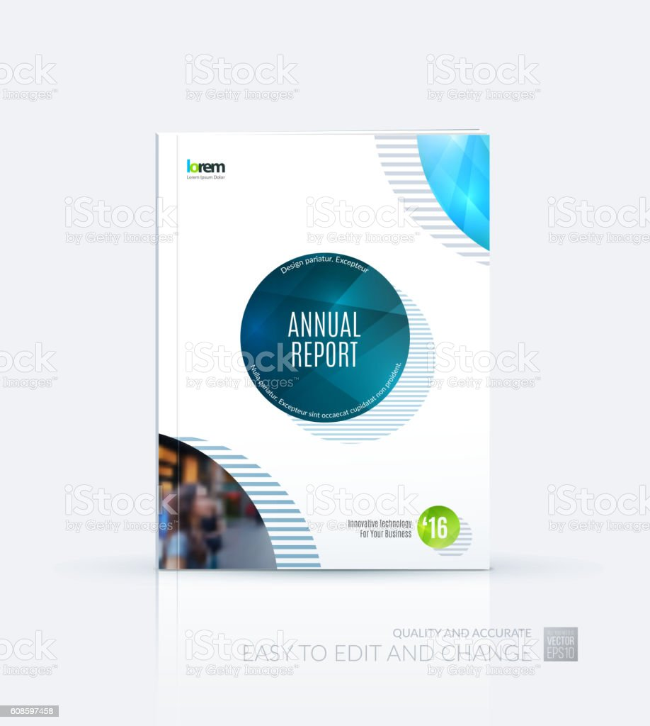 Brochure template layout cover design annual report magazine royalty free stock vector