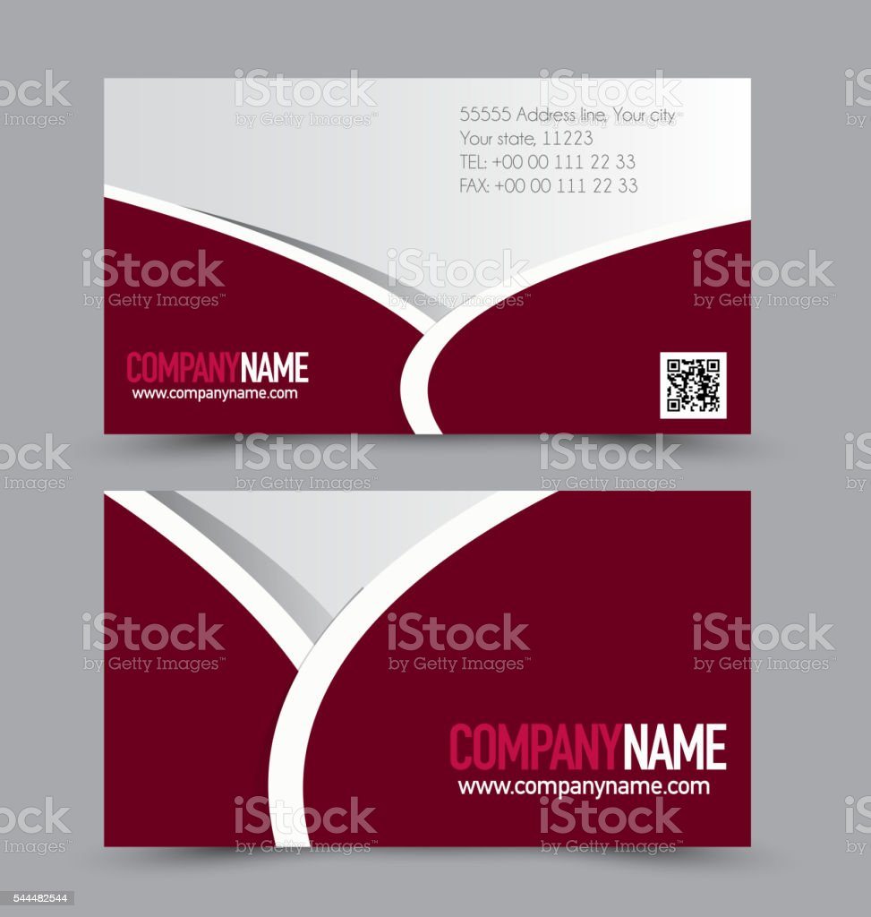 Design Firmen Business Card Design Set Template For Company Corporate Style Red