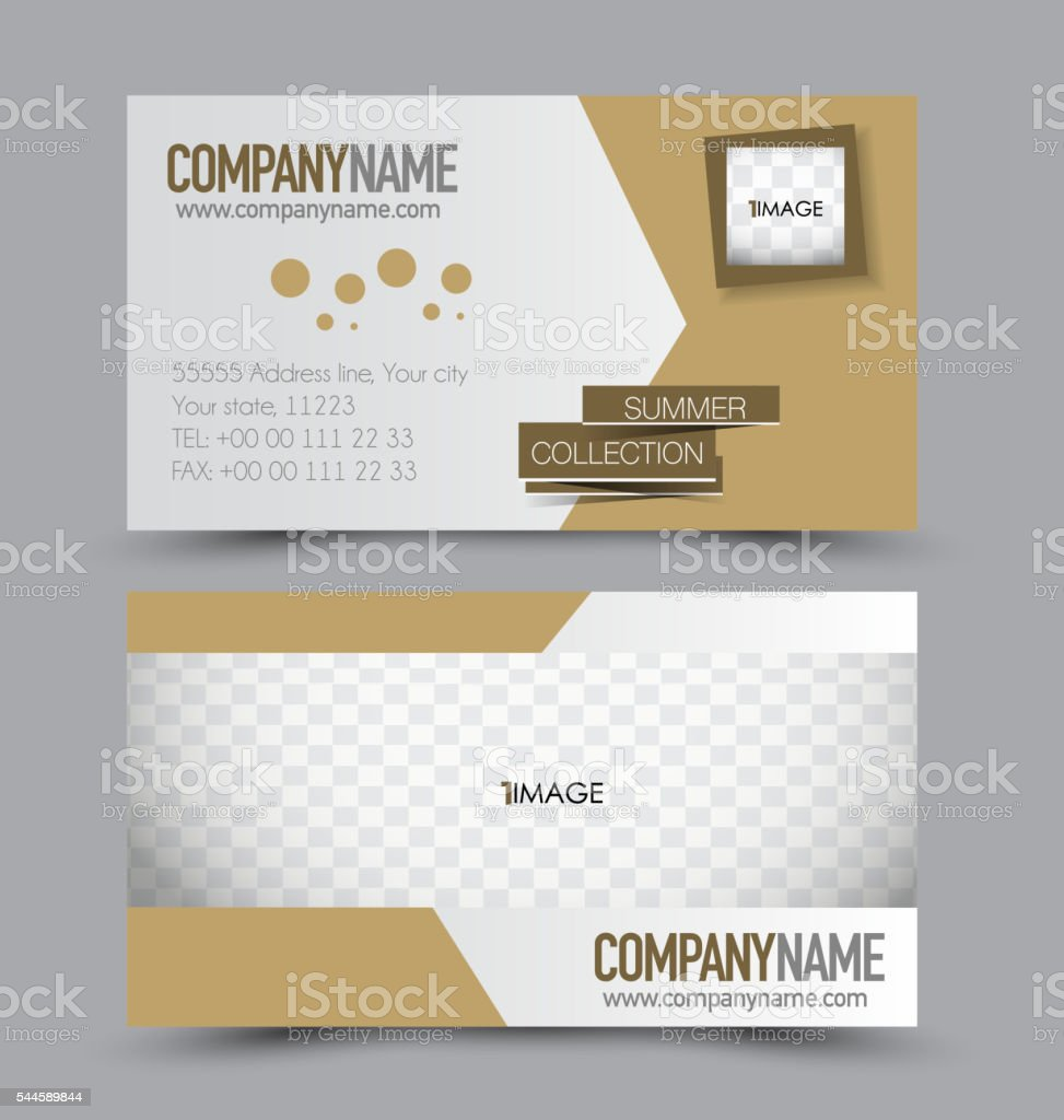 Design Firmen Business Card Design Set Template For Company Corporate Style Brown