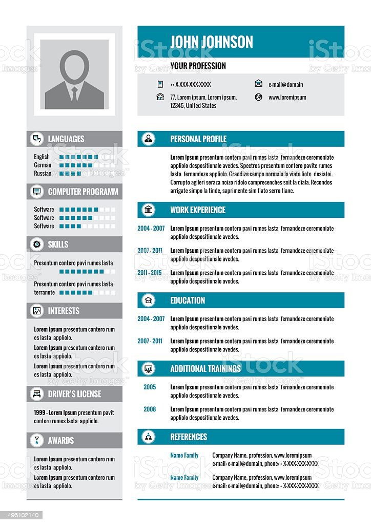 illustration cv moderne gratuit