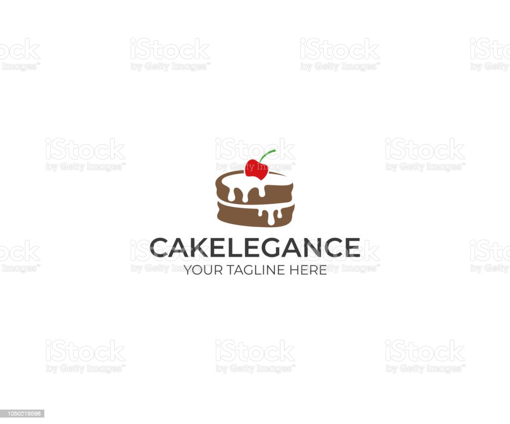 Kuchen Logo Kuchenlogodesign Essenvektordesign Illustration Backen Stock