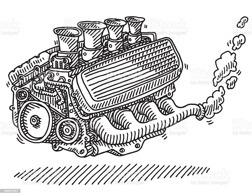 simple internal combustion Schema moteur