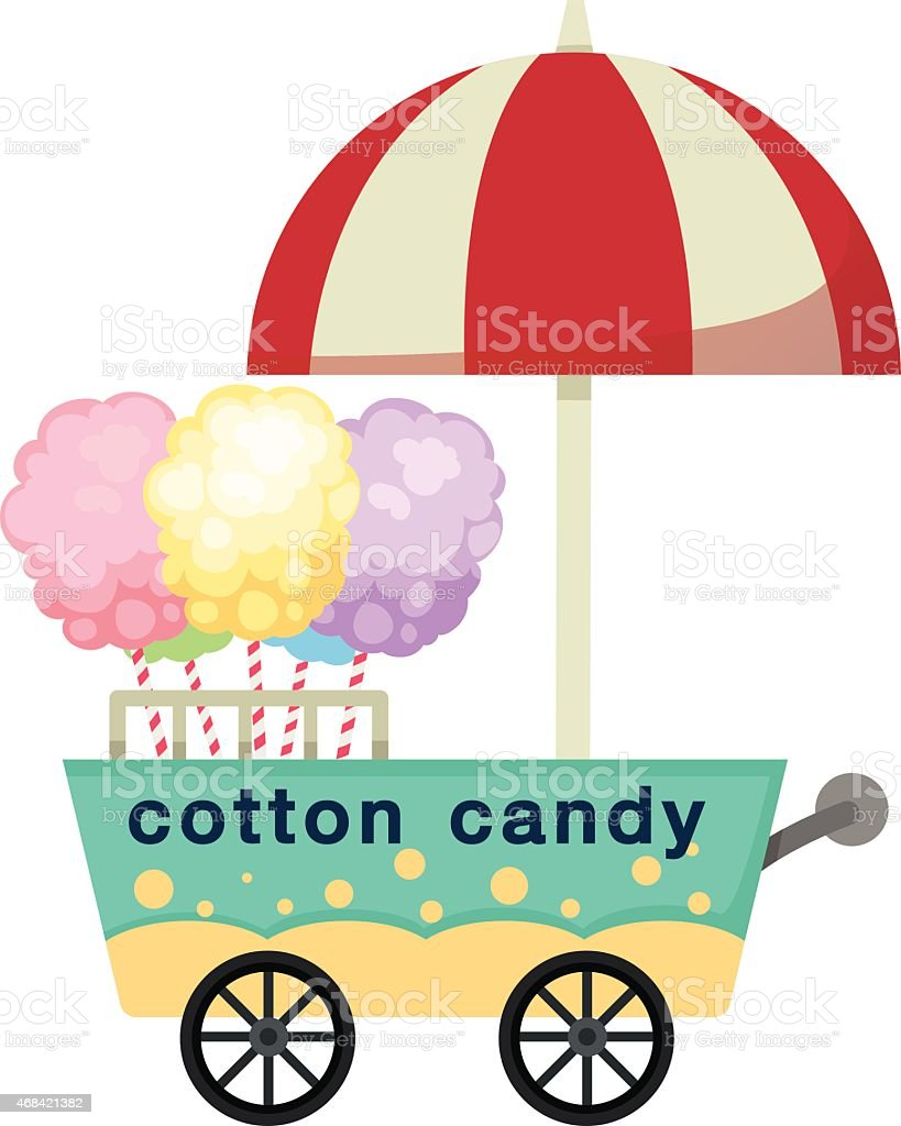 Duschkabine Outdoor Cart Stall And Cotton Candy Vector Stock Vector Art More