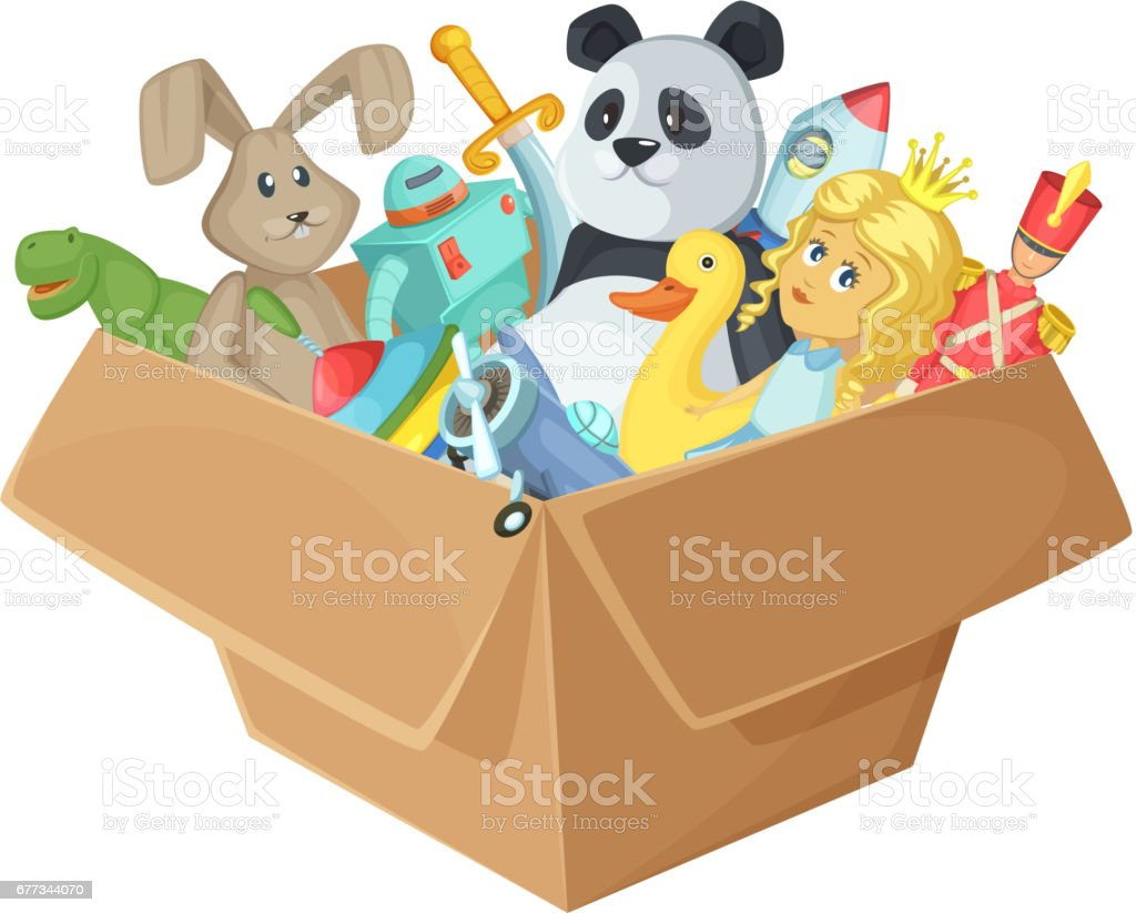Royalty Free Toy Box Clip Art Vector Images