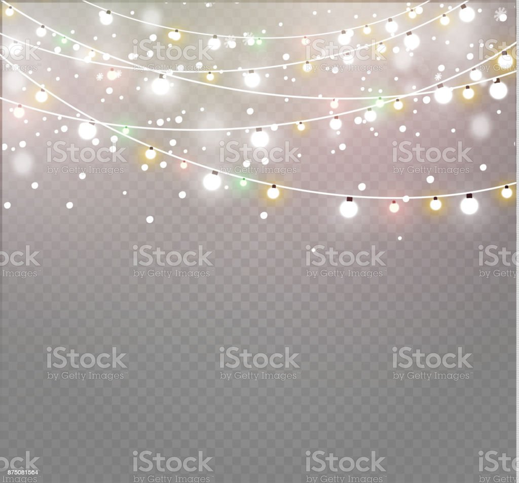 Light Strings Illustrations Royalty Free Vector Graphics