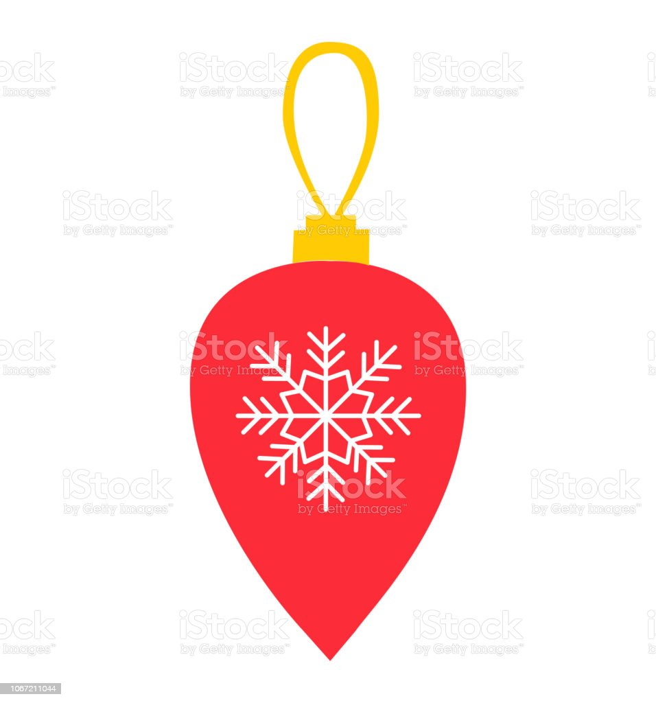 Baum Deko Wohnung Christmas Red Ball And New Year Decoration Vector Flat Isolated On