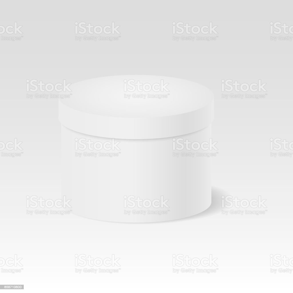 Weiße Box Closed Gift Box White Round Closed Box Package 3d Cylinder