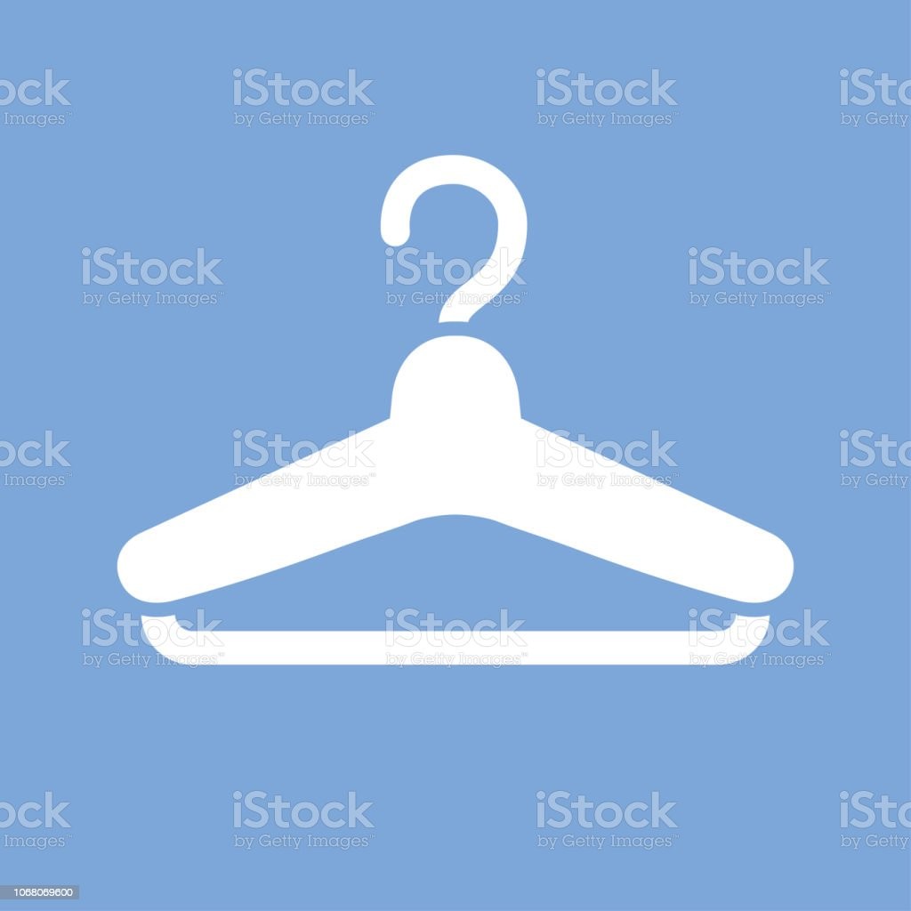 Armoire Habits Coat Hanger Vector Icon