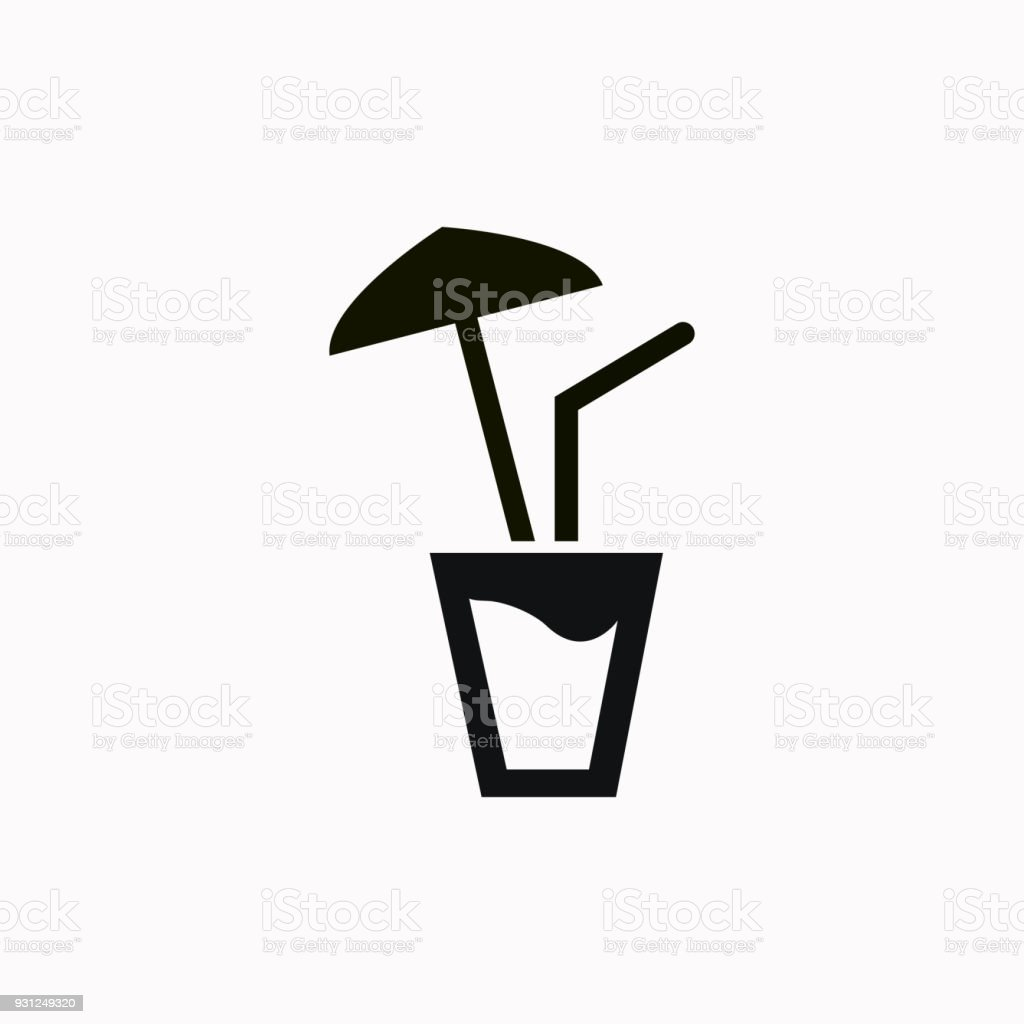 Outdoor Bubble Bett Cocktail Vector Icon Stock Illustration Download Image Now