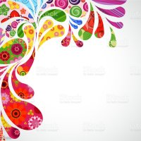 Colorful Border Abstract Illustration Over White ...