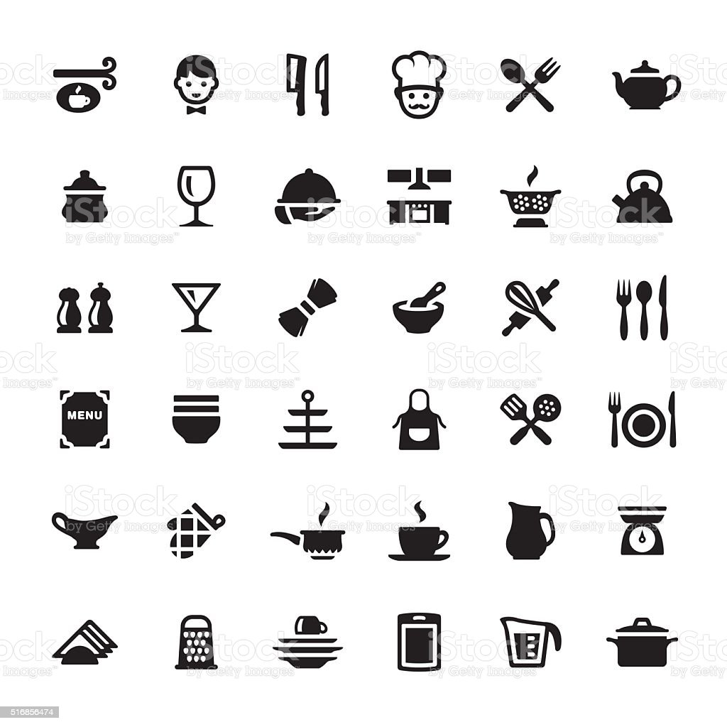 Küche Zeichnen Symbole Cooking Kitchen Utensil Vector Symbols And Icons Stock