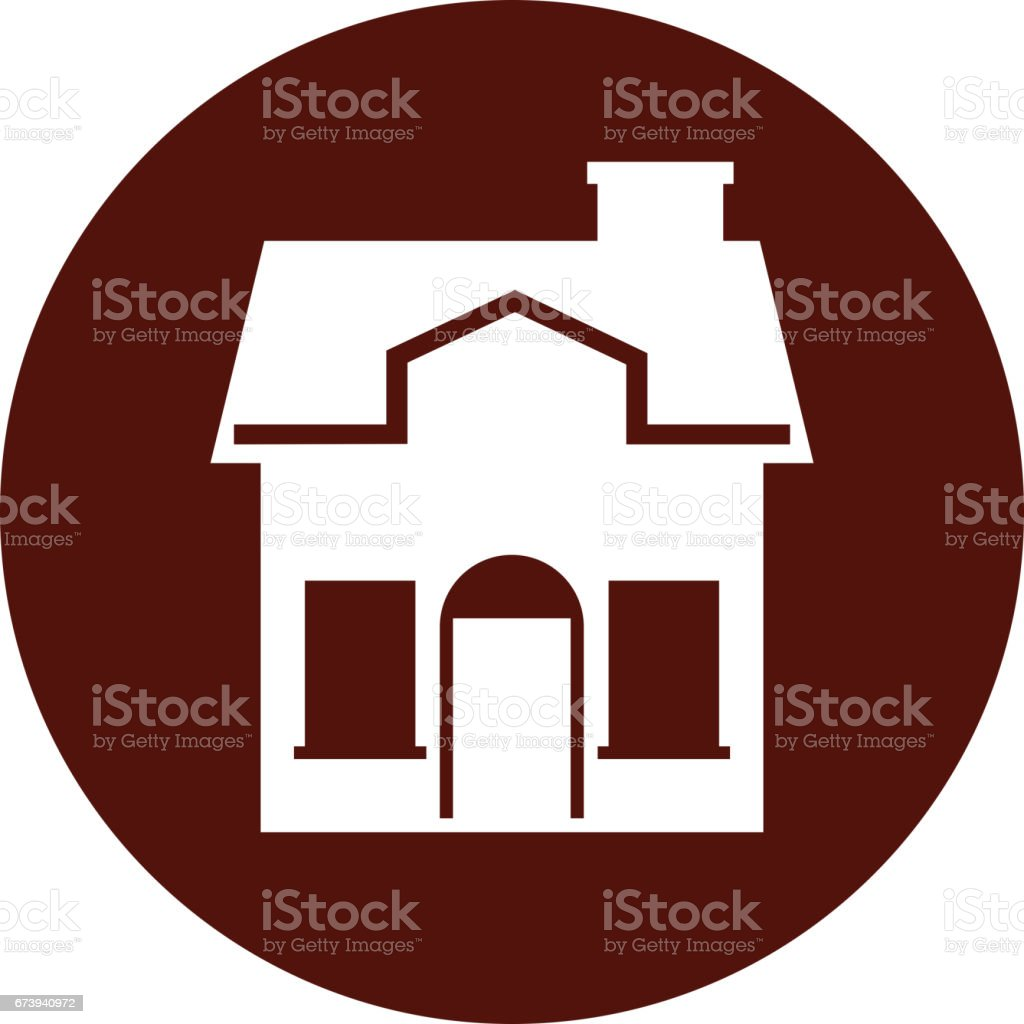 Cute House Exterior Icon Stock Illustration Download Image Now Istock