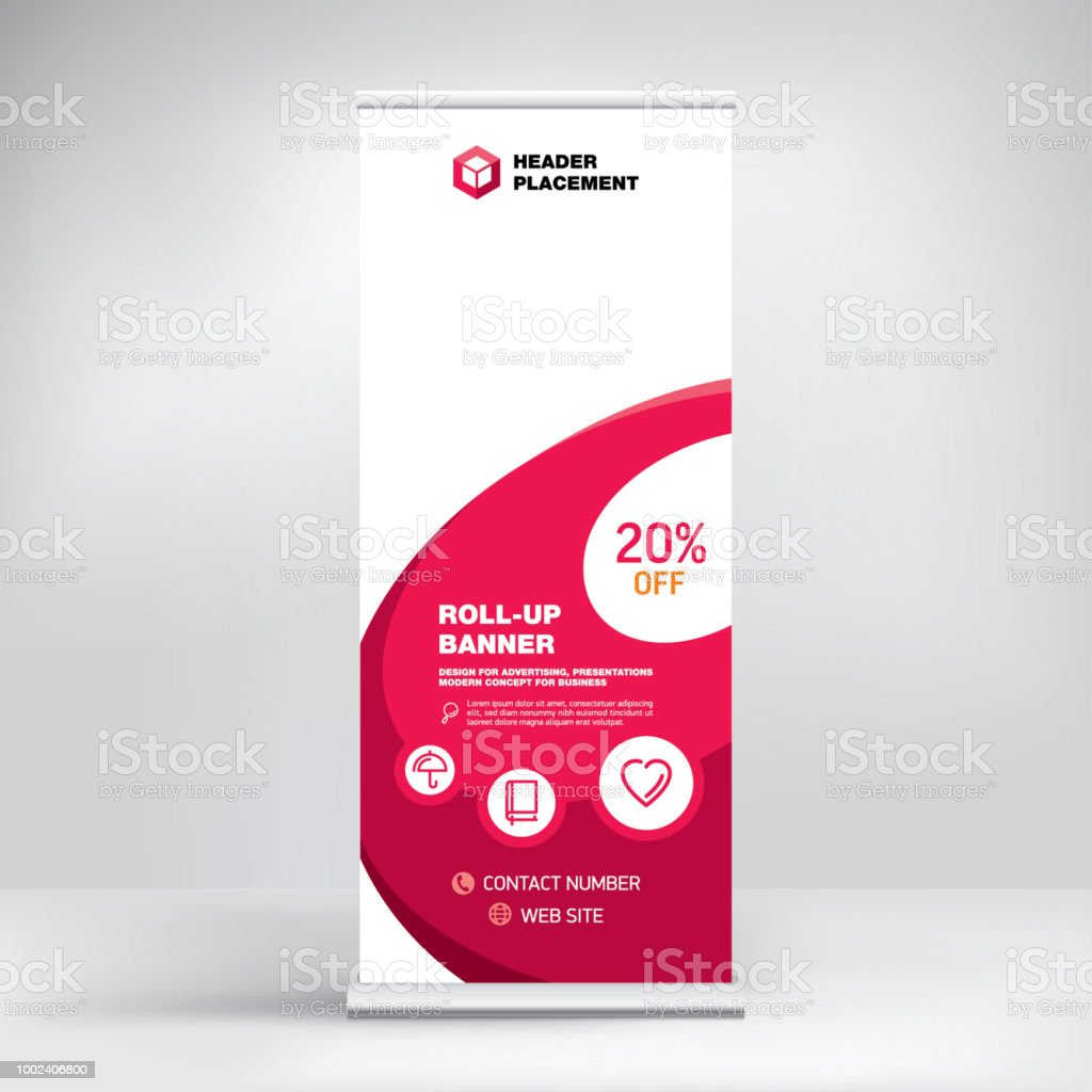 Rollup Design Rollup Advertising Banner Template Stand For Presentations Conferences Exhibitions Modern Business Concept For Product Promotion Creative