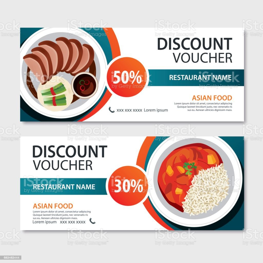 Cuisine Asiatique Discount Voucher Asian Food Template Design Chinese Set
