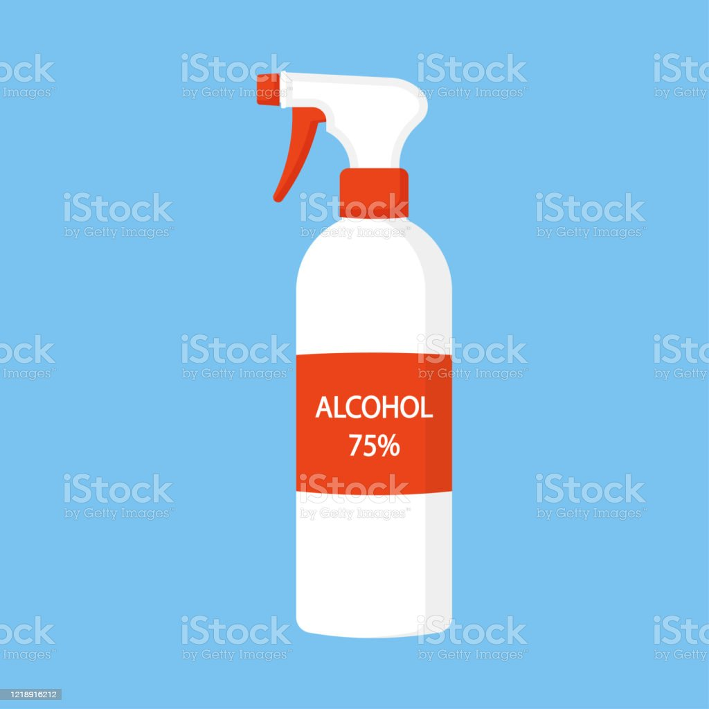Was Ist Ethanol Disinfectant Spray Or Antiseptic Bottle Spray Can Be Use For Medical Disinfection And Health Care Item Stock Illustration - Download Image Now - Istock
