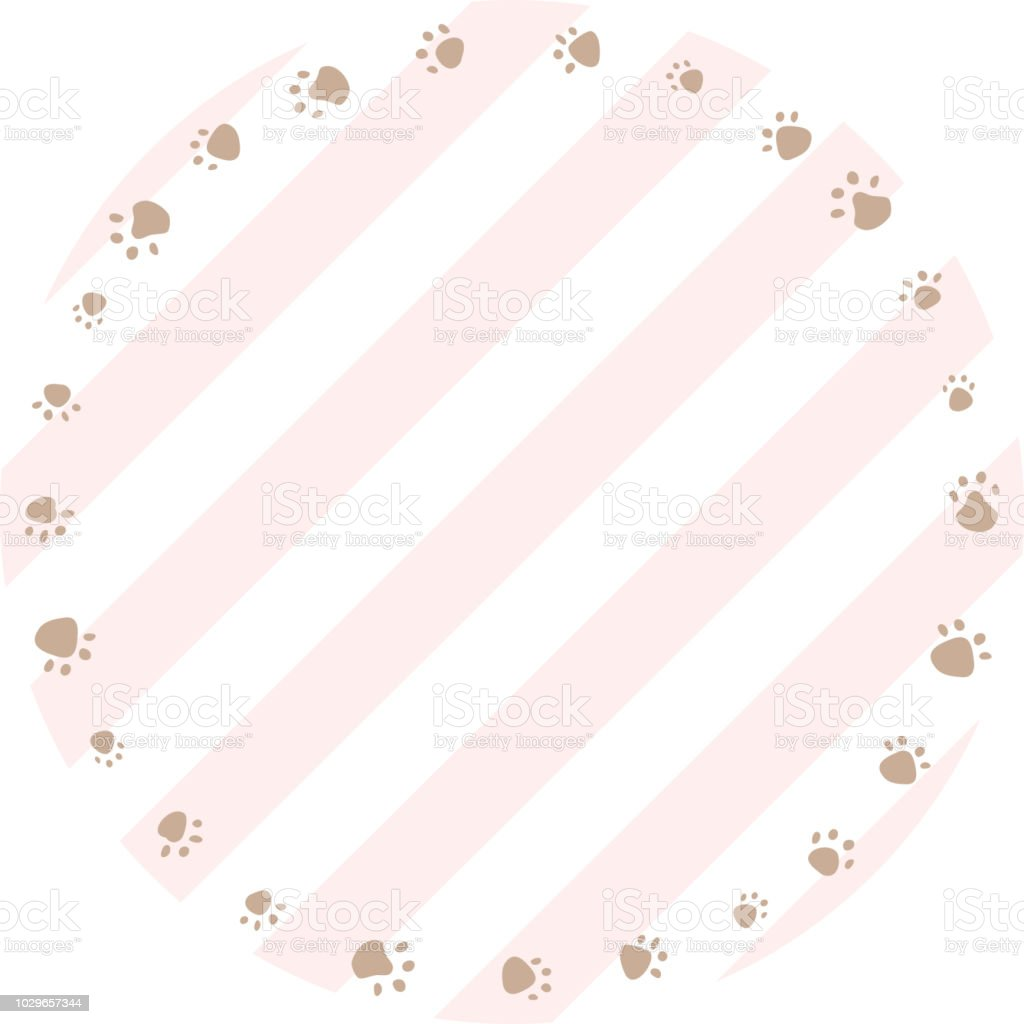 Cadre à Imprimer Dog Or Cat Paw Print Vector Illustration