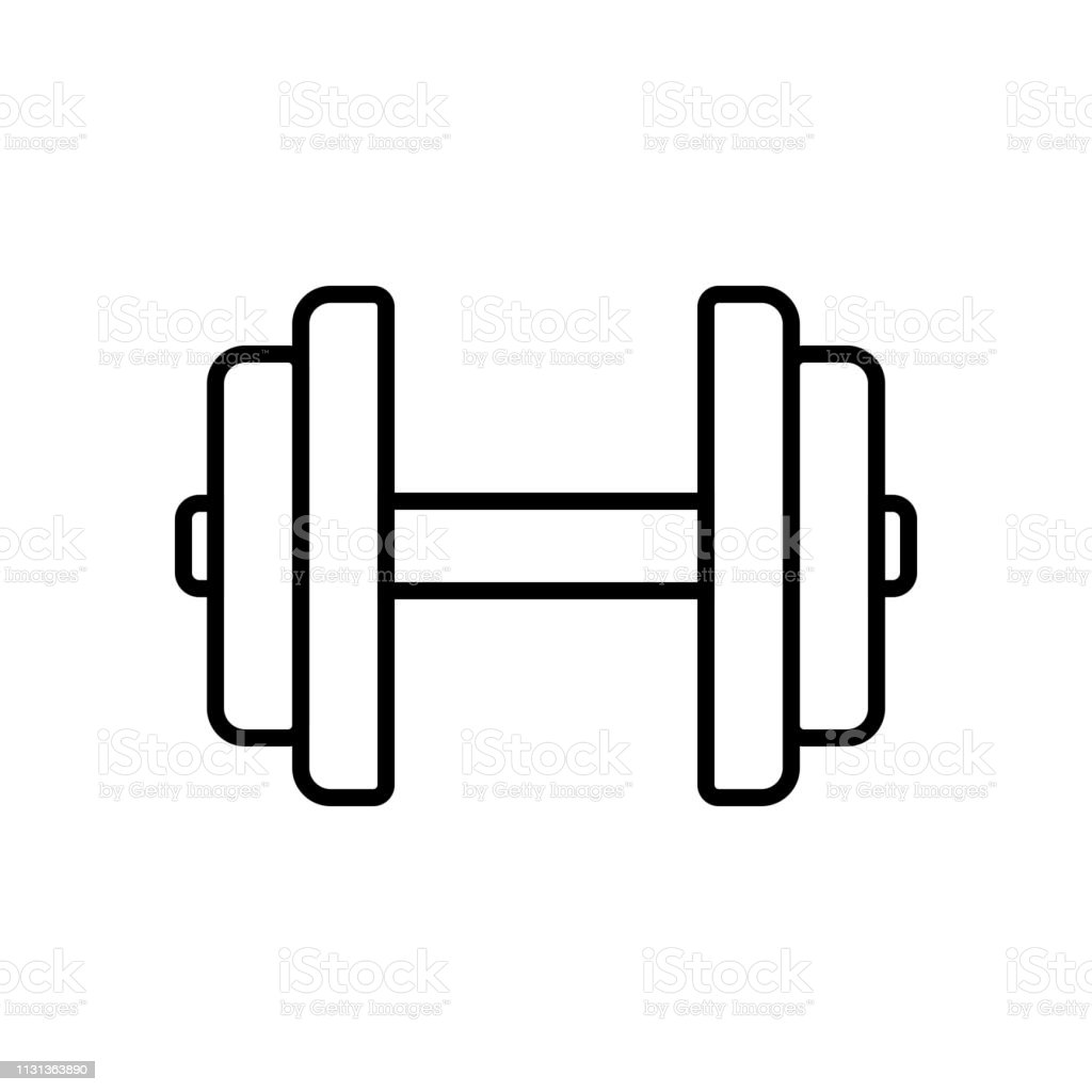 Sofa Workout Dumbbell Icon Fitness Equipment For Hand Muscle Workout In The Gym