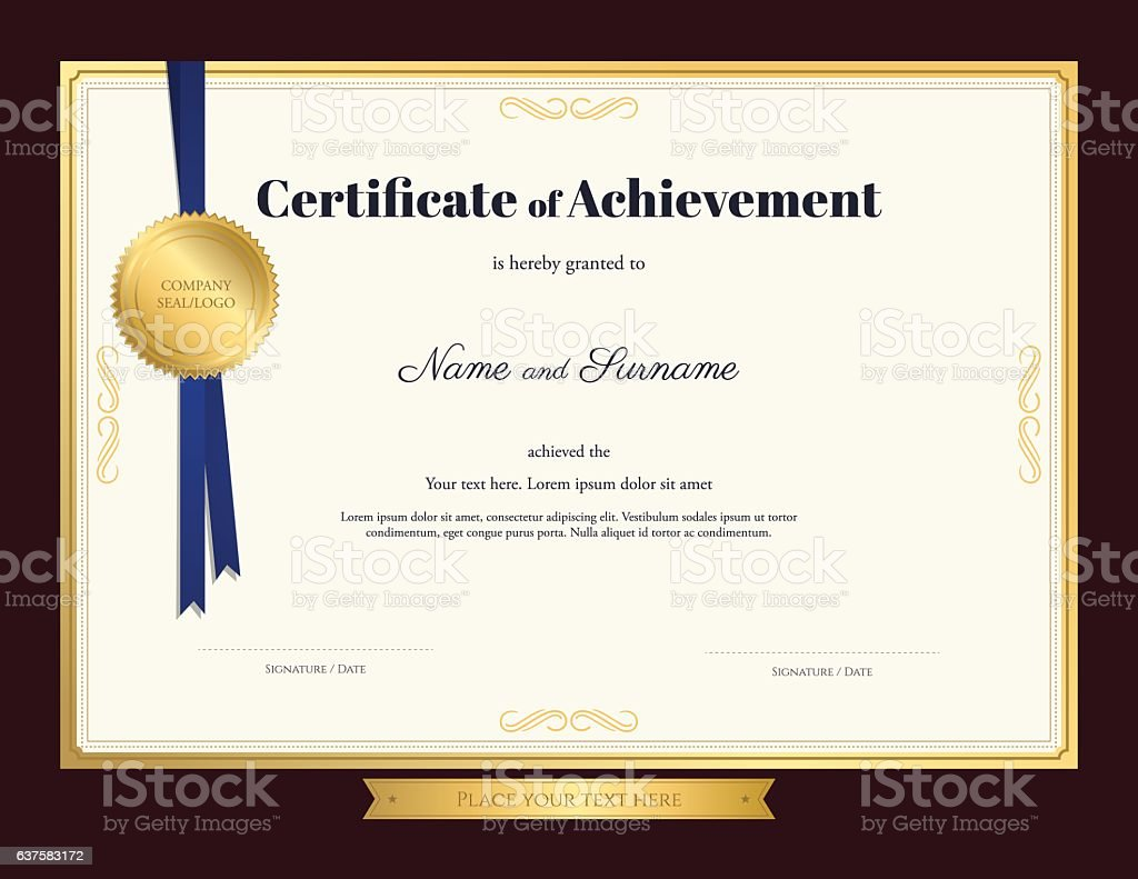certificate of achivement