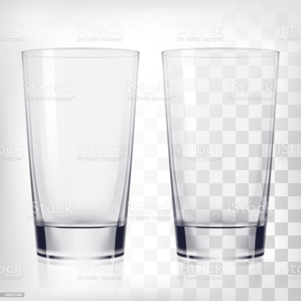 Glas Tassen Empty Drinking Glass Cups Mockup Stock Vector Art & More