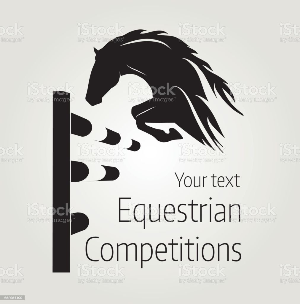 Affiche Cheval Equestrian Competitions Vector Illustration Of Horse Poster