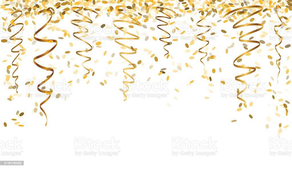 Falling Glitter Confetti Wallpapers Falling Gold Confetti Stock Vector Art Amp More Images Of