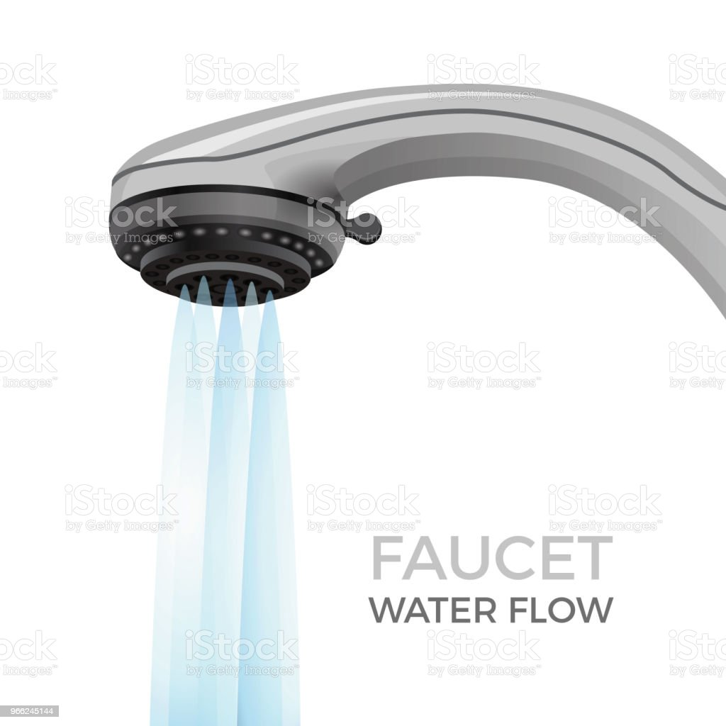 Wasserhahn Für Dusche Faucet Water Flow Promo Banner With Shower Nozzle Modern Bathroom