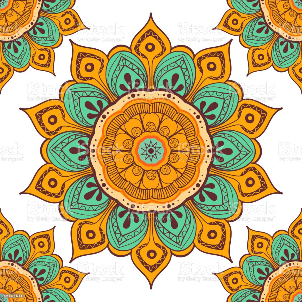 Libros Sobre Mandalas Flower Mandala Colorful Background For Cards Prints Textile And