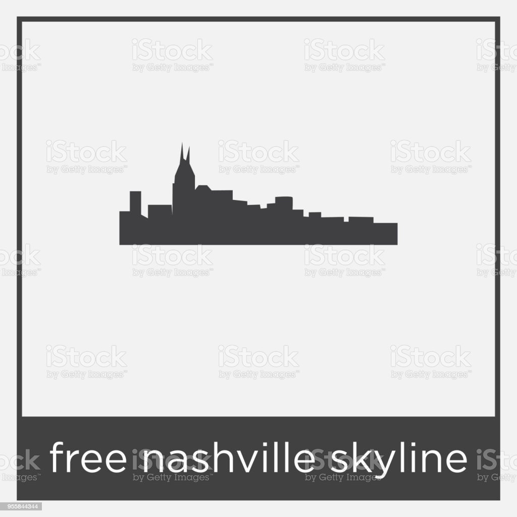 Banco Imagenes Libres Gratis Free Nashville Skyline Icon Isolated On White Background With Gray