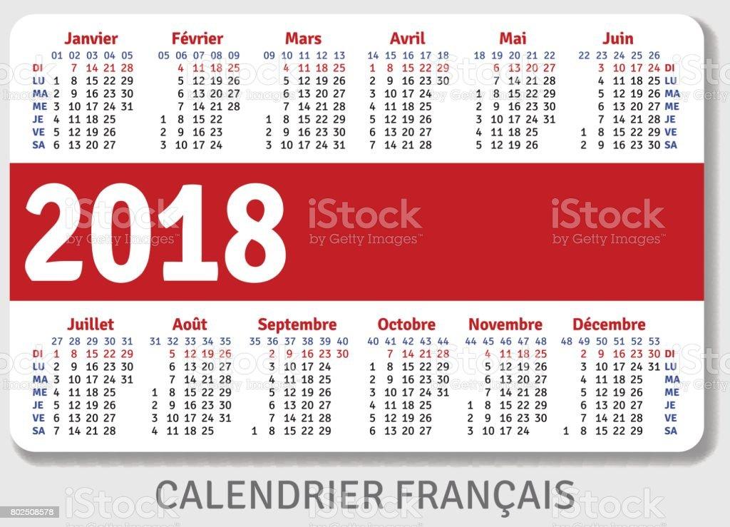 Pocket Calendar Format 25 Pocket Calendar Templates Free Psd Vector Eps Png French Pocket Calendar For 2018 Stock Vector Art 802508578