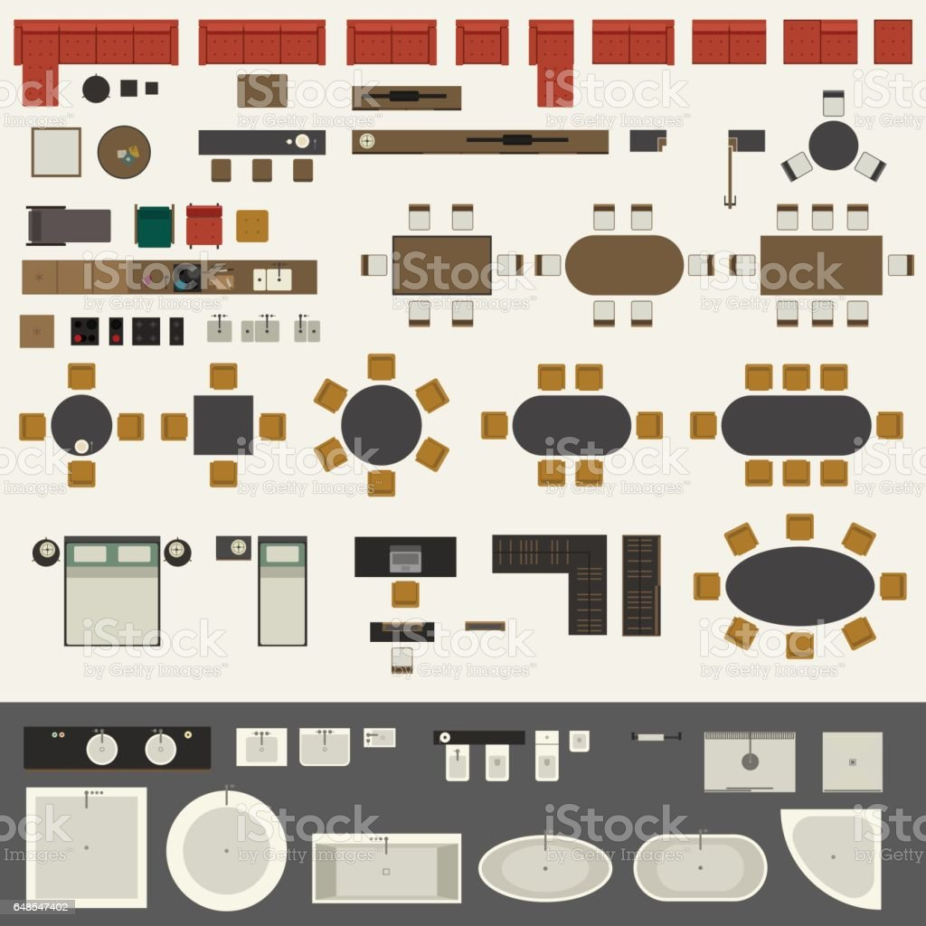 Furniture Set Stock Illustration Download Image Now Istock