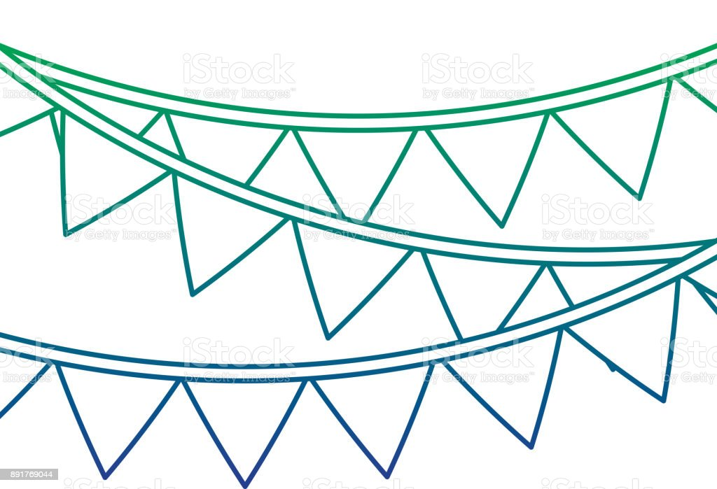 Guirlande De Fanion Garland Pennant Banner Decoration Ornament Vector Illustration