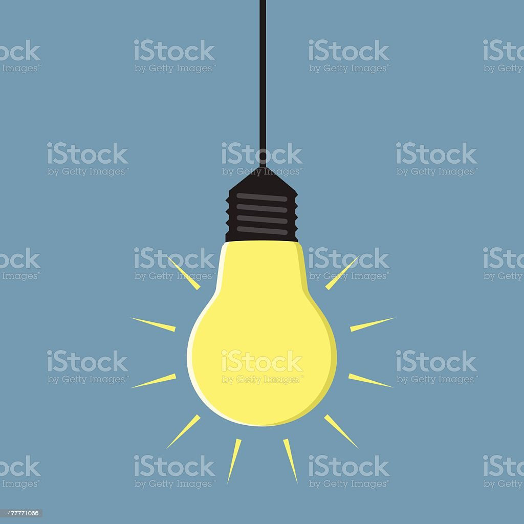 Royalty Free Light Bulbs And Hanging Clip Art Vector