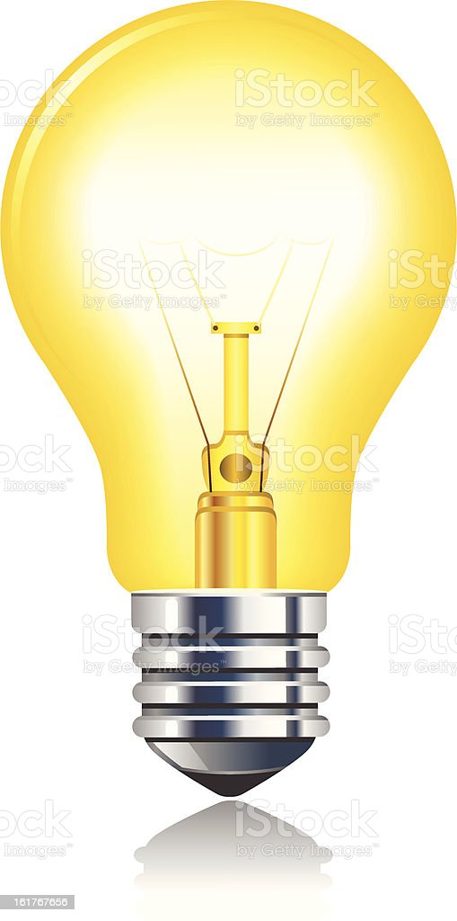 Best Incandescent Bulb Illustrations Royalty Free Vector