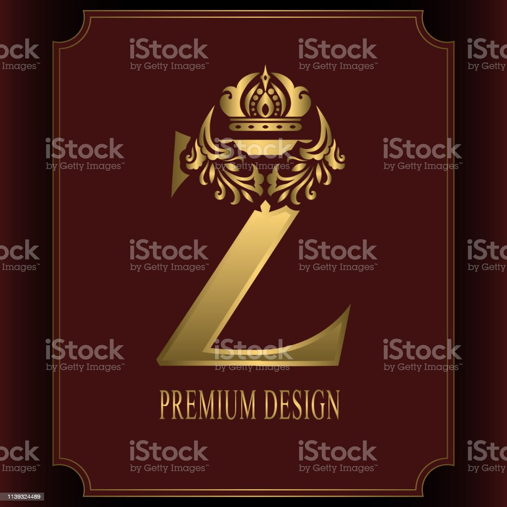 letter k with crown logo design royalty free vector image