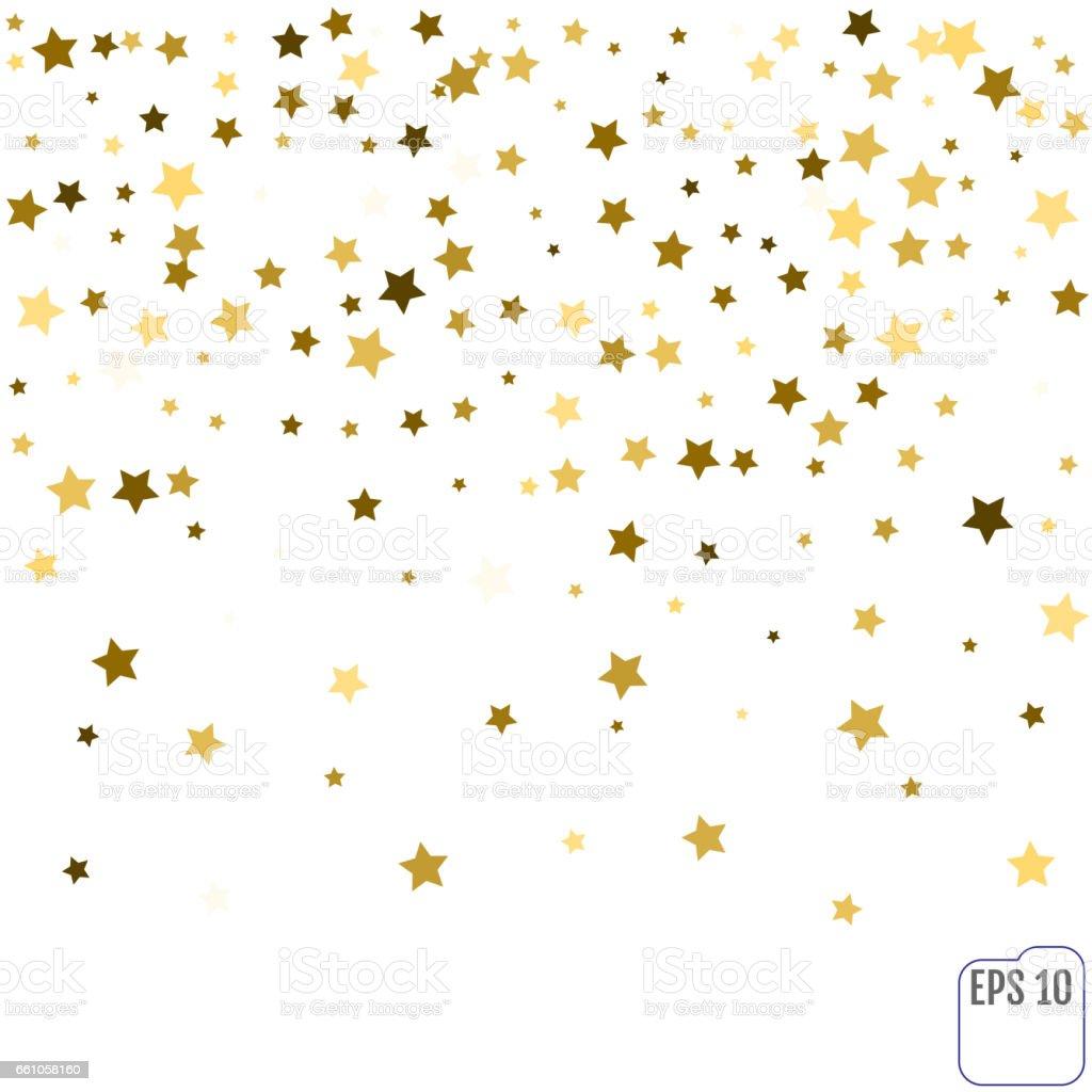Purple Falling Circles Wallpaper Gold Star Confetti Rain Festive Holiday Background Vector