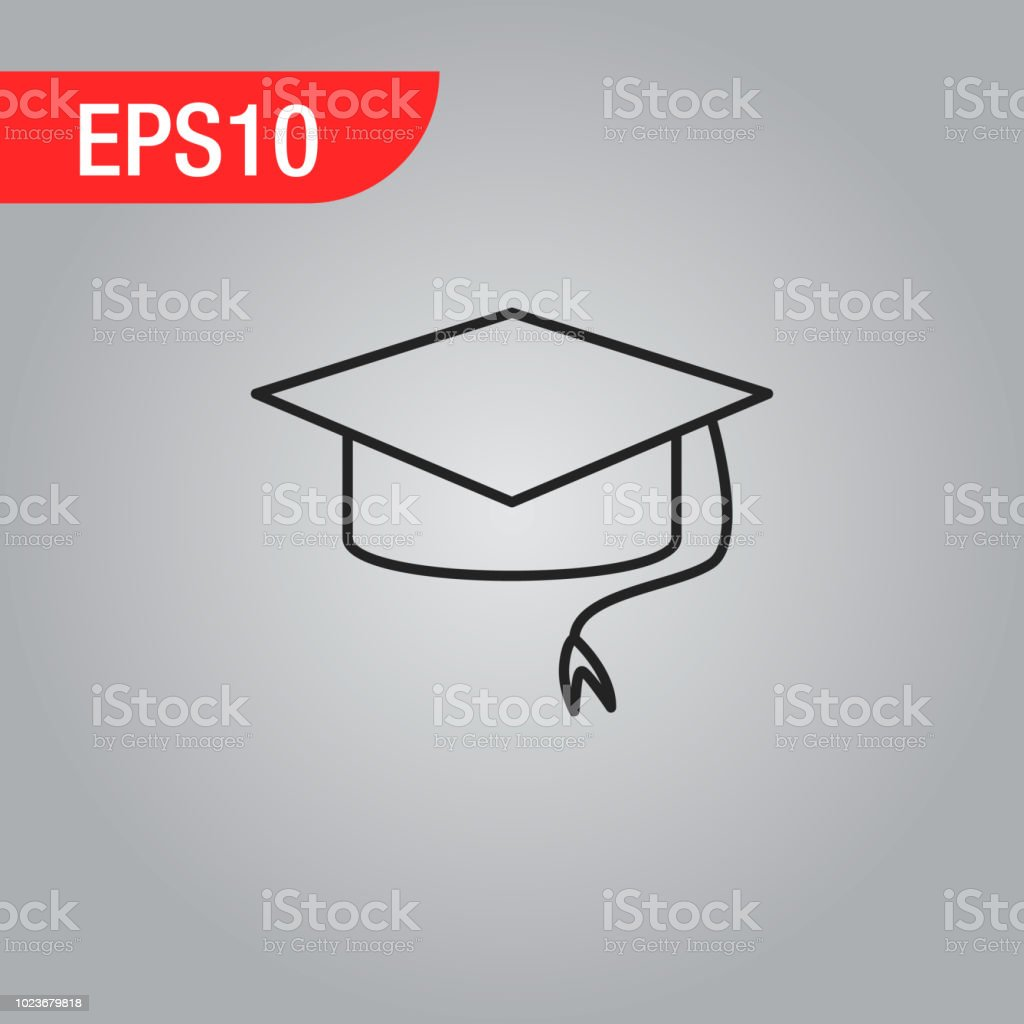 Möbel Modern Design Graduation Cap Icon Thin Line For Web And Mobile Modern