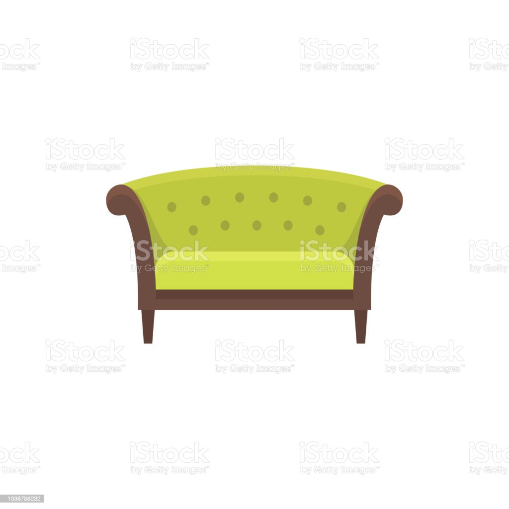Sofa Vector Free Green Chesterfield Sofa Sofa Vector Illustration Flat Icon Of